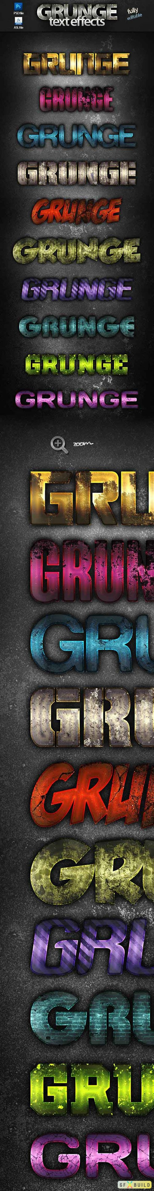 10 Grunge Text Effects Styles for Photoshop