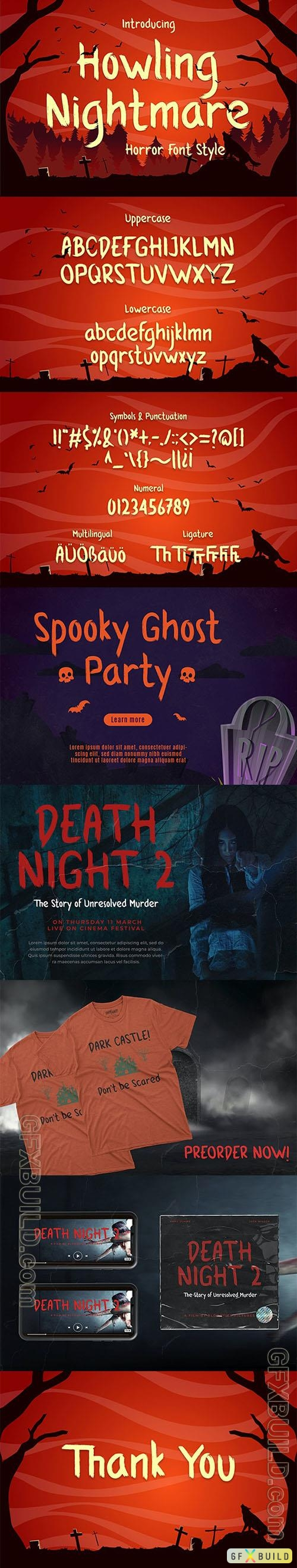 GR - Howling Nightmare - Horror Font 31750451