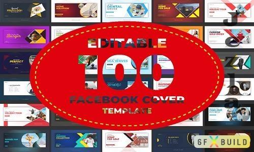Facebook Cover Social Media Post Bundle - 100 Premium Graphics