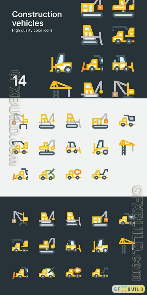Vector Construction Vehicle Icons
