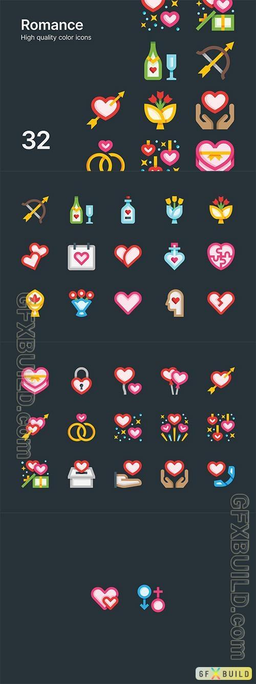Vector Romance Icons