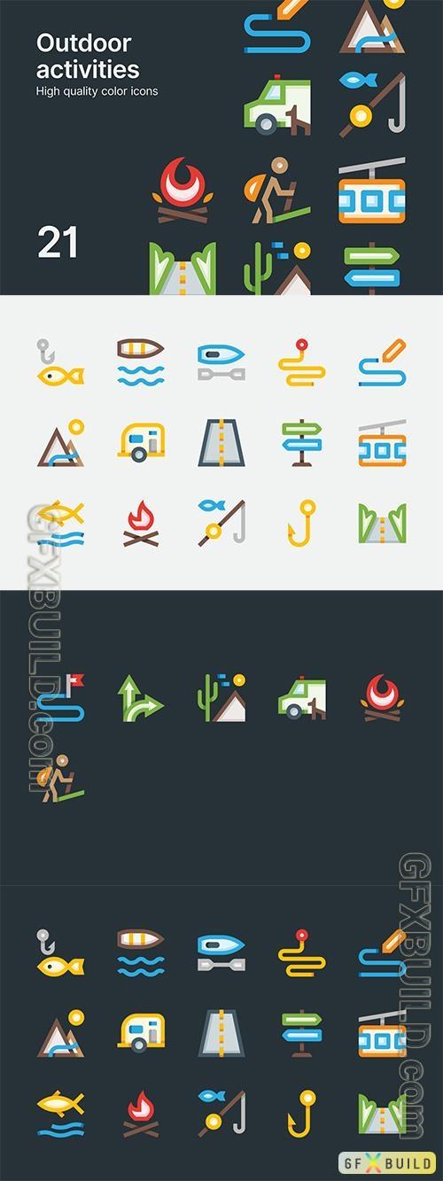 Vector Outdoor Activities Icons