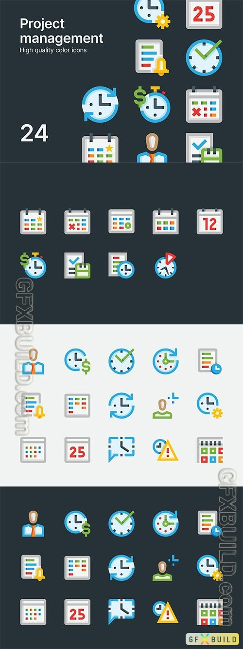 Vector Project Management Icons