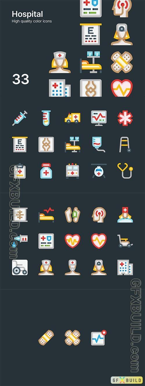 Vector Hospital Icons