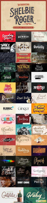 48 Awesome Fonts Bundle 12 (OTF, TTF, WOFF)