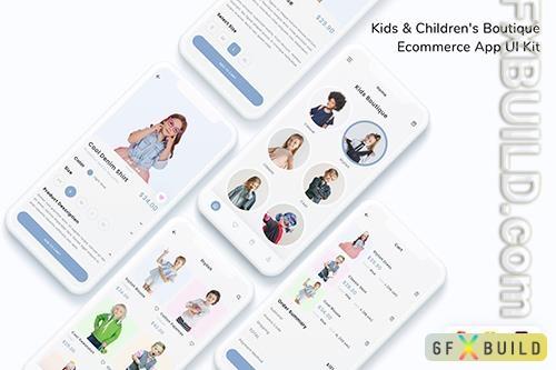 Kids & Children's Boutique Ecommerce App UI Kit A746TCA