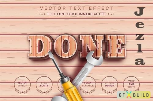 Done Wood - Editable Text Effect - 6492438