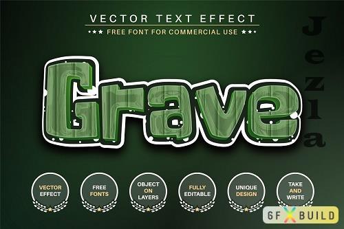 Grave - Editable Text Effect - 6497053