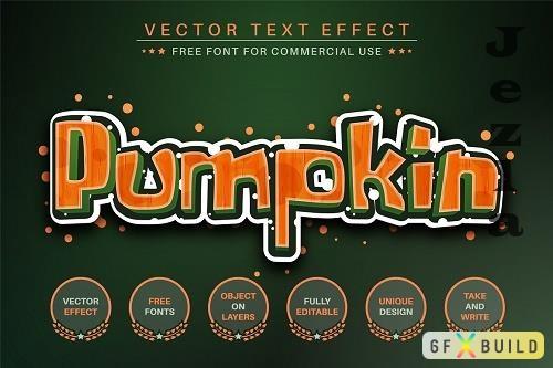 Pumpkin - Editable Text Effect - 6497871