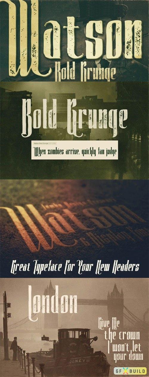 Watson - Bold Grunge Font