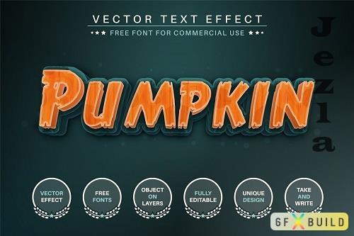 Halloween Pumpkin - Editable Text - 6498311