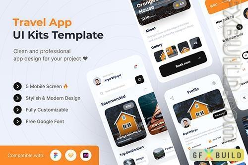 Travel Mobile App UI Kits Template