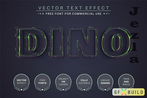 Dino - Editable Text Effect - 6508391