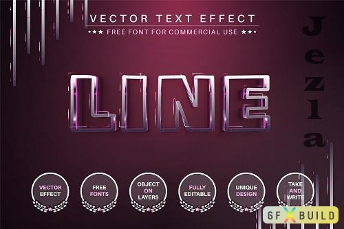 Steel Line - Editable Text Effect - 6510427