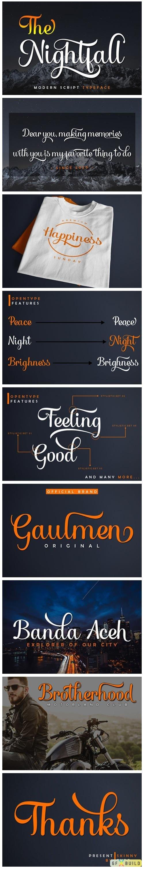 The Nightfall - Modern Script Typeface