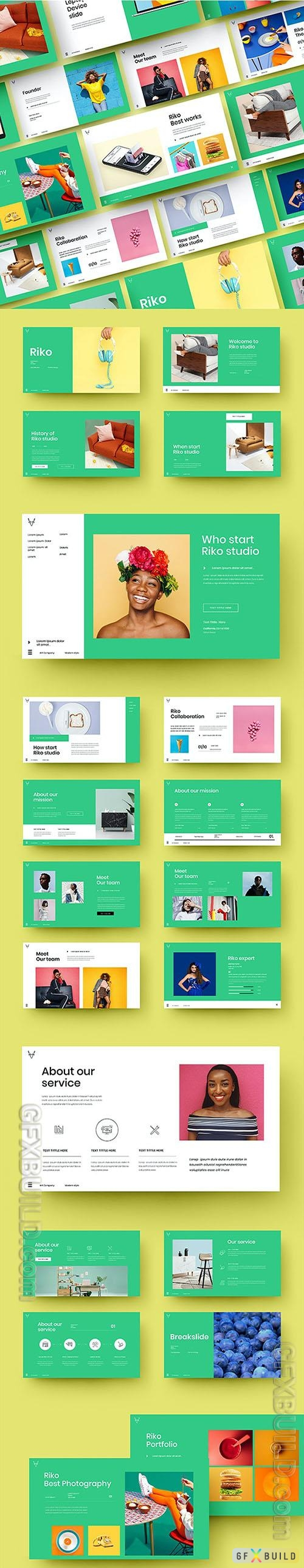 Riko - Business Powerpoint, Keynote and Google Slides Template
