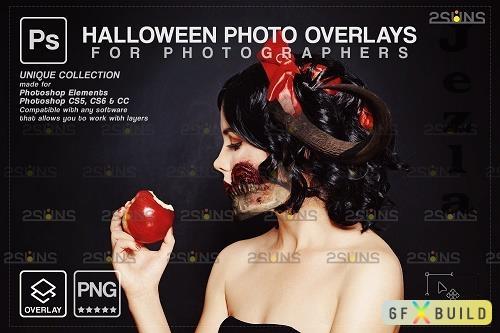 Halloween clipart Halloween overlay, Photoshop overlay V2 - 1583907