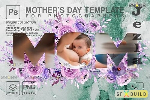 Mother's Day Digital Photoshop Template V6 - 1447836