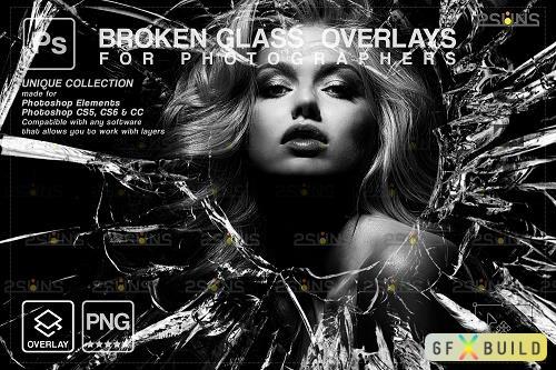 Broken Glass Photoshop Overlay & Halloween Photoshop overlay V4 - 1447944