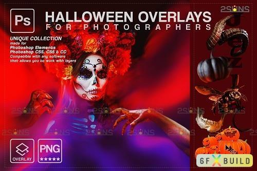 Halloween clipart Halloween overlay, Photoshop overlay V12 - 1584016