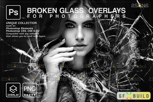 Broken Glass Photoshop Overlay & Halloween Photoshop overlay V5 - 1447947