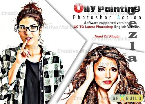Oily Painting Photoshop Action - 6520379