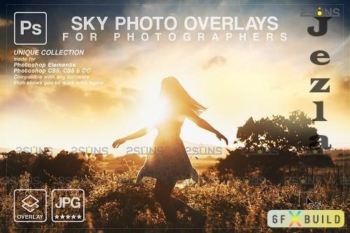 Sunset Sky Photo Overlays, photoshop V5 - 1583966