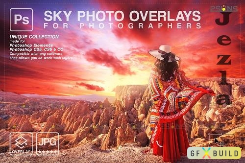 Sunset Sky Photo Overlays, photoshop V6 - 1583970