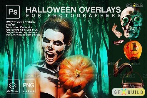 Halloween clipart Halloween overlay, Photoshop overlay V14 - 1584023