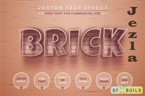 Brick Stone - Editable Text Effect - 6512067