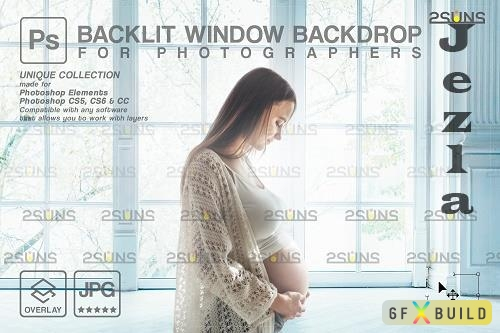 Curtain backdrop & Maternity digital photography backdrop V9 - 1447859