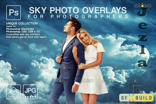 Blue Sky Overlays, Pastel sky, sky overlay textures V3 - 1583956