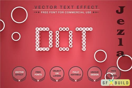 Red Dot - Editable Text Effect - 6513627
