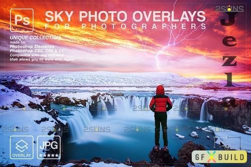 Sunset Sky Photo Overlays, photoshop V8 - 1583973
