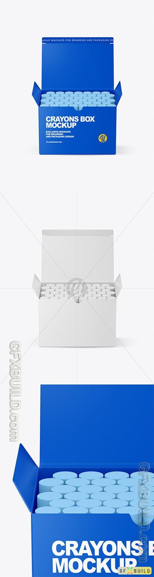 Paper Box with Crayons Mockup 89406
