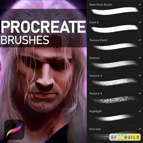 16 Digital Painting Brushes for Procreate