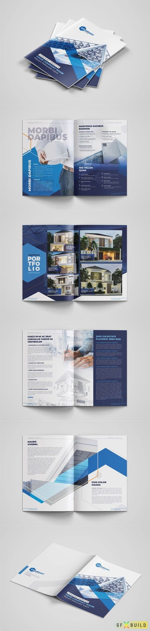 Architect Company Profile - A4 Booklet Indesign Template