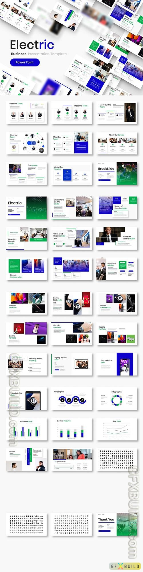 Electric - Business Powerpoint, Keynote and Google Slides Template