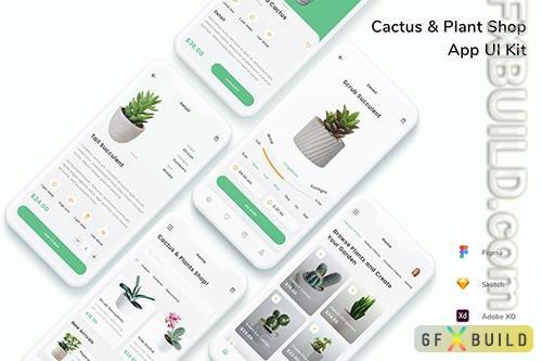 Cactus & Plant Shop App UI Kit