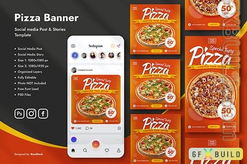Pizza Instagram Post Story Template
