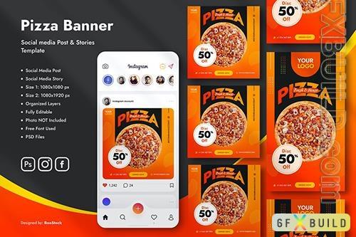 Pizza Social Media Banner Template