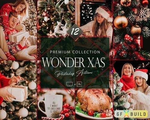 12 Wonder Xmas Photoshop Actions, Christmas ACR Preset, Moody Ps Filter