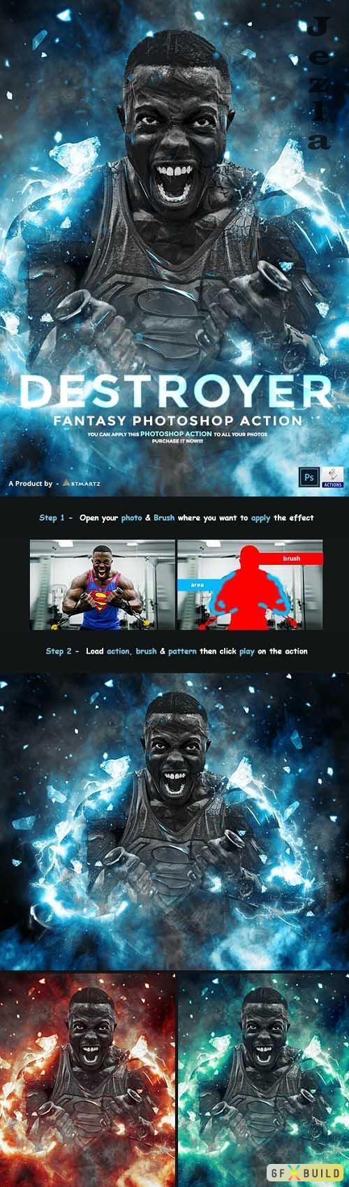 Destroyer - Fantasy Photoshop Action - 32993878