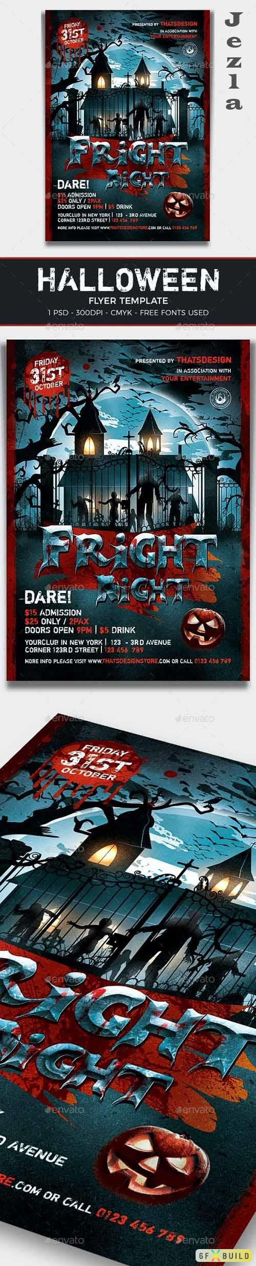 Halloween Flyer Template V17 - 12958055 - 373637