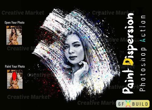 Paint Dispersion Photoshop Action - 6525553