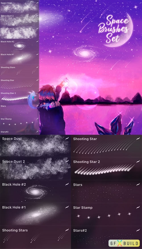 Space Brushes Set for Procreate